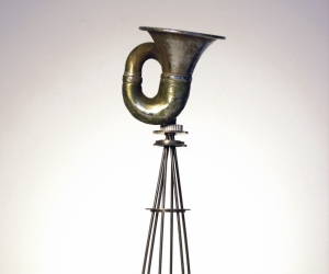 R.A.M.S.E.S. #8 • Recycled•Assembled•Metal•Surplus•Engineered•Scrap, 13.5 x 6 inches ( 34 x 15cm)