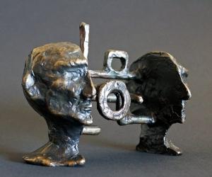 Cognitive Architecture #1 • Bronze, 3.25 x 4.5 x 2.25 inches (8.255 x 11.43 x 5.71 cm)