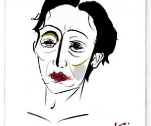 Picassohead Carol C. • 4.12 x 4.73 inches (10.46 cm x 12 cm)