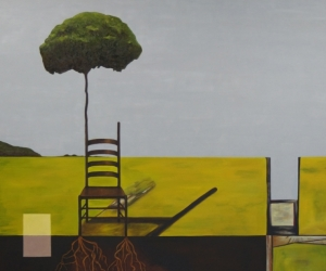 Reception 1, 2015, Oil and Acrylic on Canvas, 72 x 60 inches (183 x 152 cm)