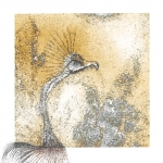 Snyders Re-Dux #24, 2012, Graphite and Colored Pencil on Digitally Manipulated Archival Print, 3 x 3 inch (7.62 x 7.62 cm) Plus Extended Drawing