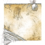 Snyders Re-Dux #27, 2012, Graphite and Colored Pencil on Digitally Manipulated Archival Print, 3 x 3 inch (7.62 x 7.62 cm) Plus Extended Drawing