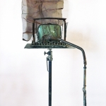 Terminal, 1992, Mixed Media with TV Screen - R.A.M.S.E.S Recycled-Assembled-Metal-Surplus-Engineered-Scrap 83 x 28 x 43 inches (210.82 x 71.12 x 109.22 cm)