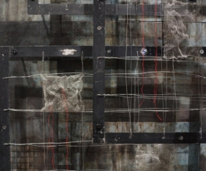 Ascending Intervals, Mixed Media, 84 x 60 x 14 inches (213 x 152 x 36 cm) Detail 2