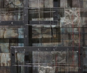 Ascending Intervals, Mixed Media, 84 x 60 x 14 inches (213 x 152 x 36 cm) Detail 1