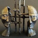 Bronze Maquette #2, 2012 - 2013 Bronze (Two Piece Sculpture), 10 x 6.5 x 4 (25.4 x 16.51 x 10.16 cm) (Variable width)