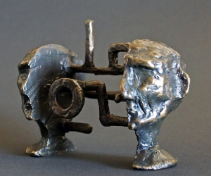 Cognitive Architecture #1 • Bronze, 3.25 x 4.5 x 2.25 inches (8.255 x 11.43 x 5.71 cm)