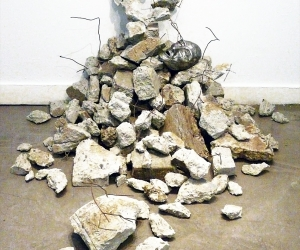 Aftermath • Installation, Repurposed Concrete, Wire, and Polymer Clay Sculpture, 40 x 60 x 72 inches (101.6 x 152.4 x 182.88 cm)