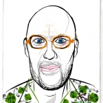 Picassohead John C. • 4.12 x 4.73 inches (10.46 cm x 12 cm)