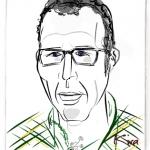 Picassohead Jon H. • 4.12 x 4.73 inches (10.46 cm x 12 cm)