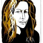 Picassohead Kira Vollman - Self Portrait • 4.12 x 4.73 inches (10.46 cm x 12 cm)